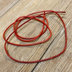 Lederband - 2,0mm, 1m - rund - rot
