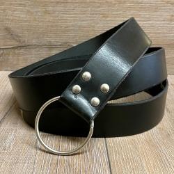 Gürtel - Leder - LC5057 Ringgürtel - schwarz - 190cm