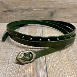 Gürtel - Leder - Godfrey - schmal - 170cm - grün