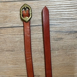 Gürtel - Leder - Godfrey - schmal - 170cm - rot