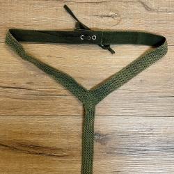 Gürtel - Damen - LCG-01 Stoffgürtel Damen, schmal - grün - L/XL - 2te Wahl