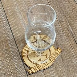 Untersetzer - Holz - Upper Glass - Whisky Gilde - 8,5cm - natur - Coaster - Dekoration