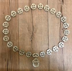 Prunkkette Order of St. James of Santiago - silberfarben