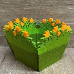 Filzkorb - Osterkörbchen - Tulpen versch. Farben - Ostern - Ostara - Ausverkauf