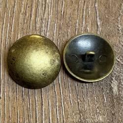 Knopf aus Metall - Öse - Flach-Kugelform - altmessing - 23mm