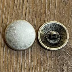 Knopf aus Metall - Scheibe massiv  – Öse -23mm - altsilber