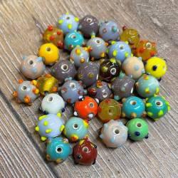 Perlen - Glasperlen - Augenperlen rund - Wickelperle Wikinger Haithabu Birka