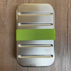 To-Go - Eco Lunchbox Edelstahl mit Bambusdeckel & Gummiband - 1100ml - Sammelbestellung möglich - 1x direkt verfügbar