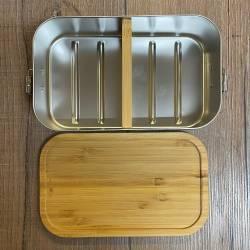 To-Go - Trennsteg für Eco & Eco Click Lunchbox Edelstahl mit Bambusdeckel - 1100ml - Sammelbestellung möglich