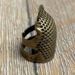 Nähzubehör - Fingerhut altmessing - Größe M