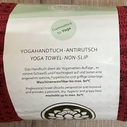 Yoga - Yogahandtuch - antirutsch - bordeaux - Ausverkauf