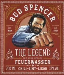Whisky - St.Kilian - Bud Spencer - The Legend Feuerwasser (Chili-Zimt-Likör) - 33% - 0,7l