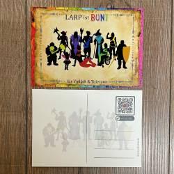 Postkarte - LARP ist BUNT - für Vielfalt & Toleranz - Regenbogen Edition