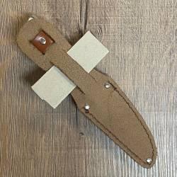 Herbertz Kinder-Gürtelmesser - AISI-420 Stahl, Pakkaholz, inkl. Lederscheide