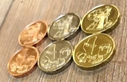 Larp Münze* - Erst die Arbeit... - Gold*