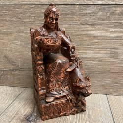 Statue - Hel sitzend - Seated Hel - Holzfinish - Dekoration - Ritualbedarf