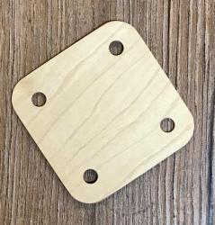 Web- Brettchen 4- Loch - 6x6cm - einzeln