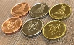 Larp Münze* - Mittellande - Silber* - Rabatt nur für Länder der Mittellande
