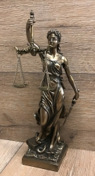 Statue - Justitia - römische Göttin der Gerechtigkeit 33cm - Dekoration - Ritualbedarf