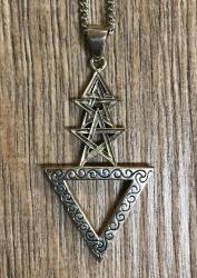Anhänger Wicca 1. Grad aus 925er Silber - 1st Degree Pentacle Pendant
