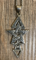 Anhänger Wicca 3. Grad aus Silber - 3rd Degree Pentacle Pendant - Silver