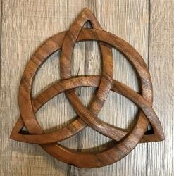 Plaque - Wandschmuck - Echtholz - Knoten des Taliesin