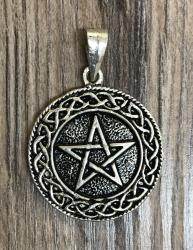 Anhänger - Amulett - Pentakel - Pentagramm Medallion