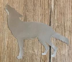 Chrome Aufkleber - Wolf