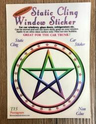 Fenster Aufkleber - Pentagramm - Transparent & wiederverwendbar