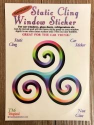 Fenster Aufkleber - Triskele - Transparent & wiederverwendbar