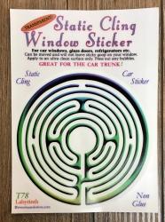Fenster Aufkleber - Labyrinth - Transparent & wiederverwendbar