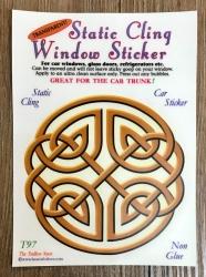 Fenster Aufkleber - Endless Knot/ Keltischer Knoten - Transparent & wiederverwendbar