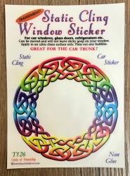 Fenster Aufkleber - Circle of Friendship/ Keltischer Flechtkreis - Transparent & wiederverwendbar