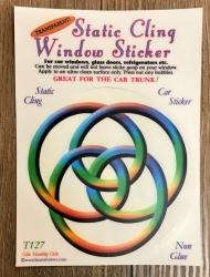Fenster Aufkleber - Celtic Frienship Circle/ Keltischer Flechtkreis - Transparent & wiederverwendbar