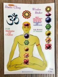 Fenster Aufkleber - Chakren/ Meditation - Transparent & wiederverwendbar