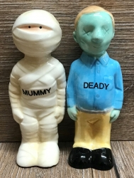 Pfeffer- & Salzstreuer - Mummy & Deady (Mumie und Tod) - Salz- & Pfefferstreuer