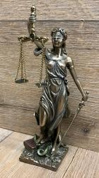 Statue - Justitia klein - römische Göttin der Gerechtigkeit - Dekoration - Ritualbedarf