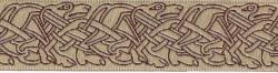 33 Borte keltische Hunde beige/ brn - 33mm - 5m Rolle - Mittelalter LARP Karneval