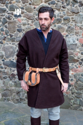 Mantel - Klappenrock Loki Wolle - braun