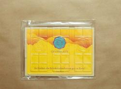 Schokolade - Gussform No.4 - 3 dünne Tafeln mit großem Emblem