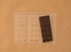 Schokolade - Gussform No.5 - 3 dünne Tafeln mit Widmung