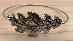 Armband - Eichenblatt Zinklegierung 6cm Durchmesser - altsilber