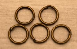 Anhänger - Charm - Zubehör - 5er Set Ringe 6mm - altmessing