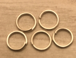Anhänger - Charm - Zubehör - 5er Set Ringe 6mm - silberfarben