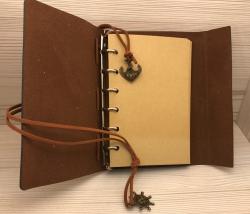Notizbuch - Diary - Nautic/ Steuerrad - Größe 1 - grün