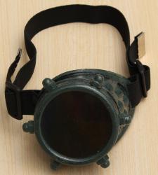 Steampunk - Brille/ Monokel (Kuststoff) - olive