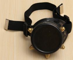 Steampunk - Brille/ Monokel (Kuststoff) - schwarz