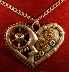 Kette - Steampunk Herz