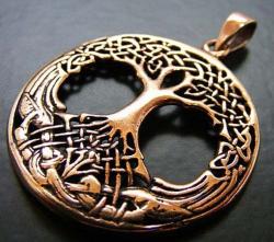 Anhänger - keltisch - Baum des Lebens/ Weltenbaum durchbrochen groß - Bronze - letzter Artikel