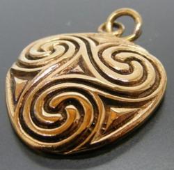 Anhänger - keltisch - Triskele - Bronze - letzter Artikel